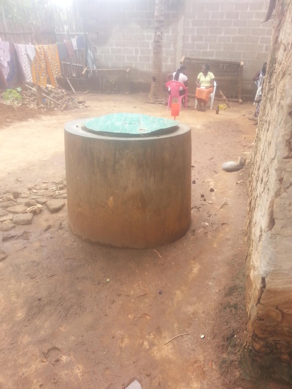 Water storage tank, Alto-Gingone, Pemba.