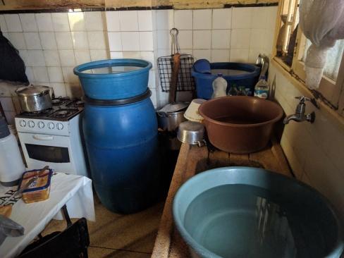 Kitchen water storage, Mafalala, Maputo.