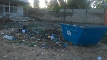 Contentor de lixo, Cariacó, Pemba.