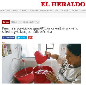 Storing water due to future and unforeseen cuts in the supply, Barranquilla and its metropolitan area